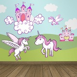 Kinderzimmer Wandtattoo: Prinzessinnenbad  0
