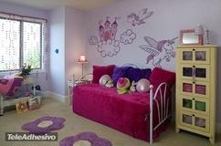 Kinderzimmer Wandtattoo: Prinzessinnenbad  3