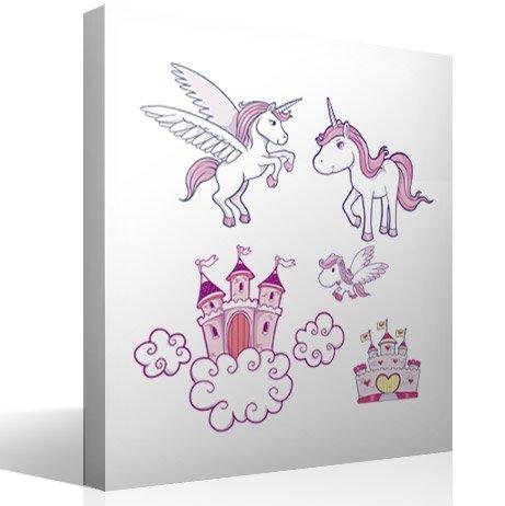 Kinderzimmer Wandtattoo: Prinzessinnenbad
