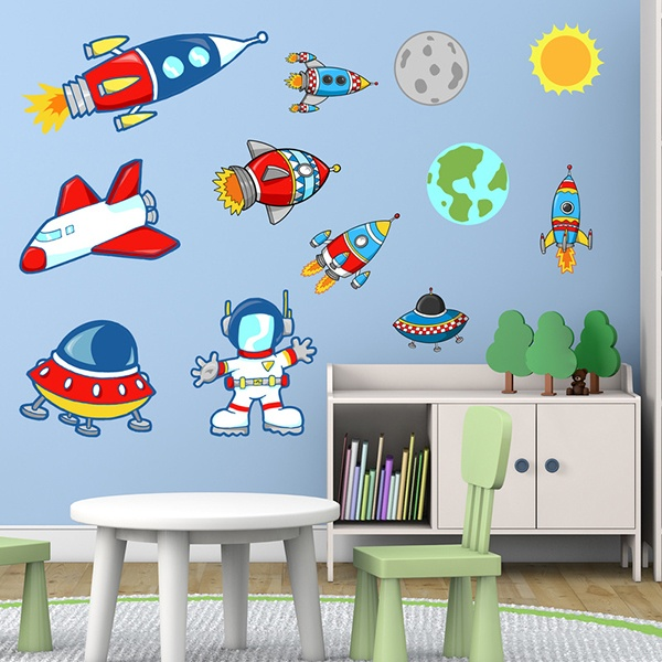 Kinderzimmer Wandtattoo: Space Kit