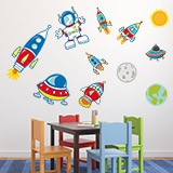 Kinderzimmer Wandtattoo: Space 5