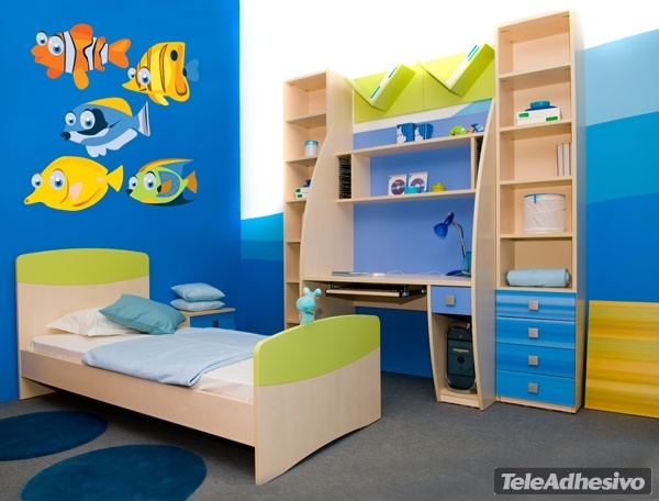 Kinderzimmer Wandtattoo: Aquarium 2