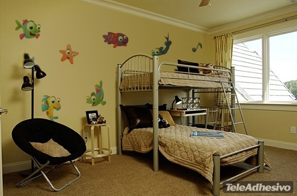 wandtattoo kinderzimmer aquarium reuniecollegenoetsele. Black Bedroom Furniture Sets. Home Design Ideas