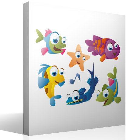Kinderzimmer Wandtattoo: Aquarium 3