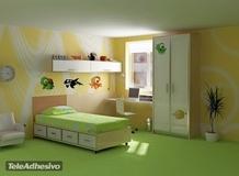 Kinderzimmer Wandtattoo: Aquarium 4 3
