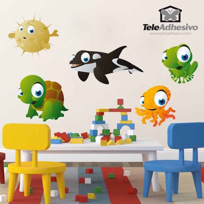 Kinderzimmer Wandtattoo: Aquarium 4