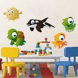 Kinderzimmer Wandtattoo: Aquarium 4 5