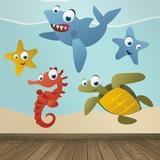 Kinderzimmer Wandtattoo: Aquarium 5 0