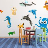 Kinderzimmer Wandtattoo: Aquarium 6 3