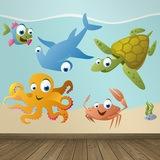 Kinderzimmer Wandtattoo: Aquarium 8 0