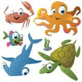 Kinderzimmer Wandtattoo: Aquarium 8 4