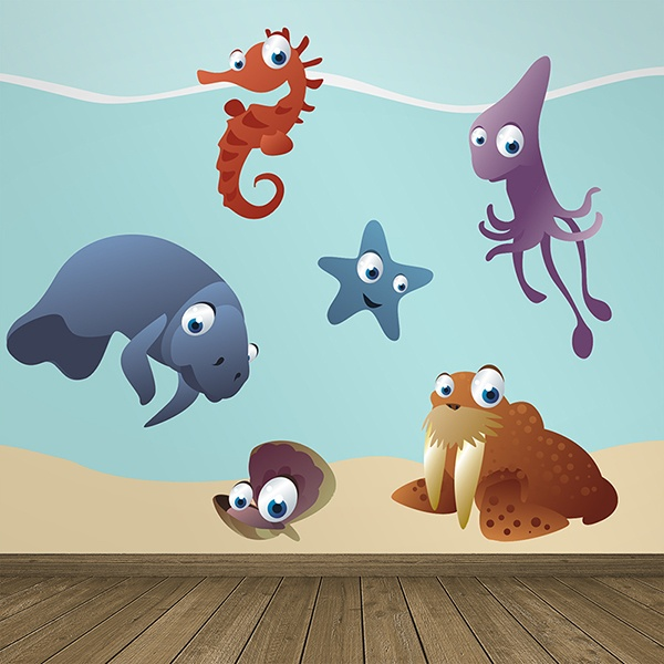 Kinderzimmer Wandtattoo: Marine Aquarium Kit