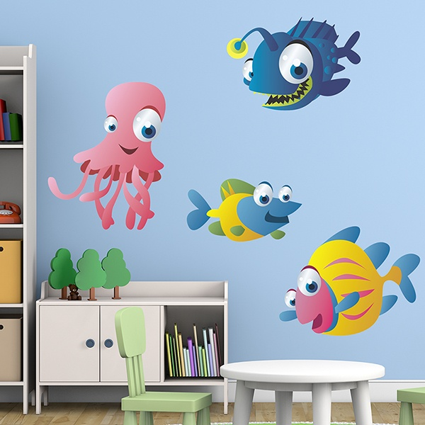 Kinderzimmer Wandtattoo: Tiefes Aquarium Kit