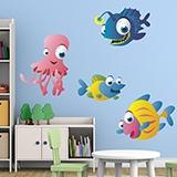 Kinderzimmer Wandtattoo: Aquarium 10 4
