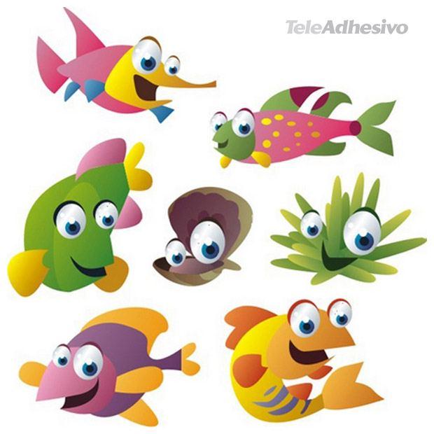 Kinderzimmer Wandtattoo: Aquarium 11