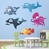 Kinderzimmer Wandtattoo: Aquarium 12 0