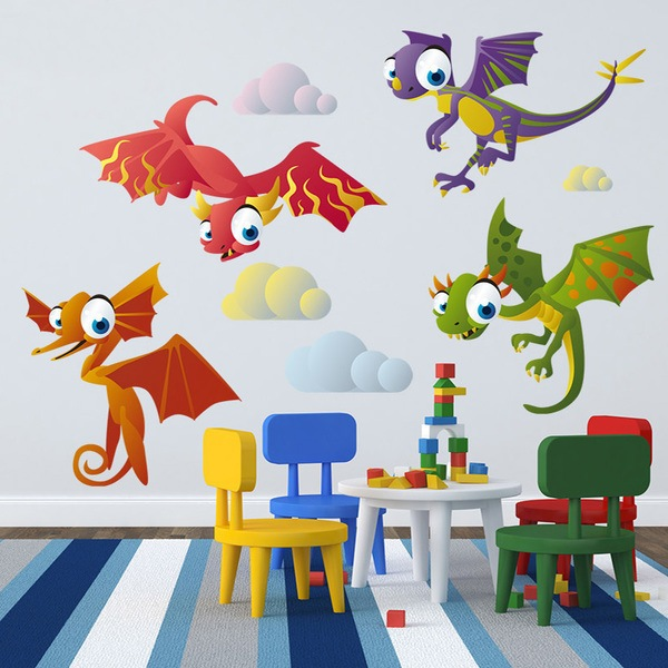 Wandtattoo Kinder Kit Fliegende Dinosaurier Webwandtattoo Com