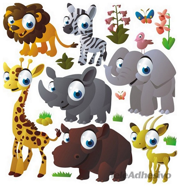 Kinderzimmer Wandtattoo: Animals of the jungle