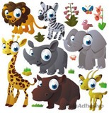 Kinderzimmer Wandtattoo: Animals of the jungle 2