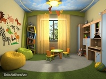 Kinderzimmer Wandtattoo: Jungle 2 3