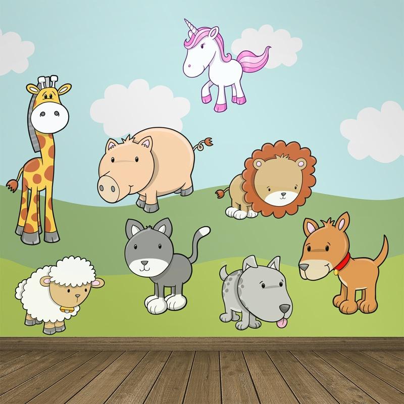 Kinderzimmer wandtattoo zoo for Kinderzimmer zoo