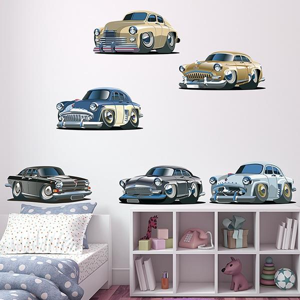 Wandtattoo kinder Kit Klassische amerikanische Autos ...