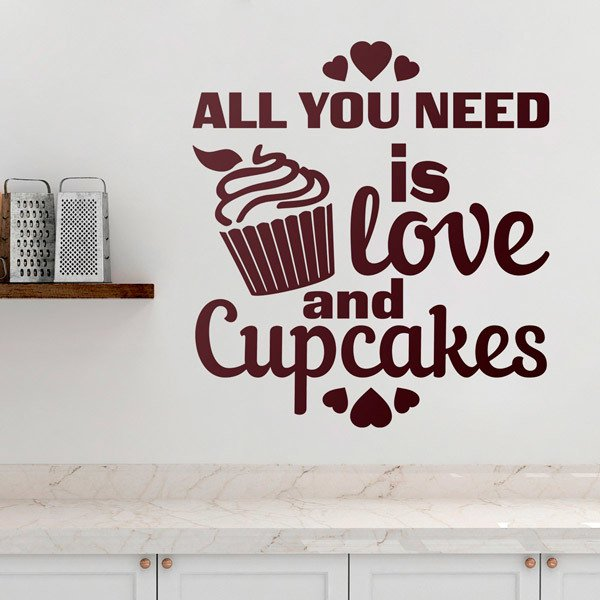 Wandtattoos: Love and Cupcakes