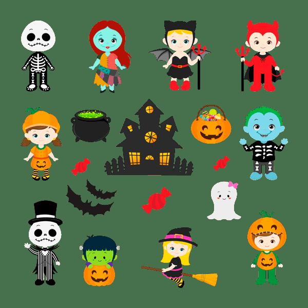 Wandtattoos: Kit Halloween