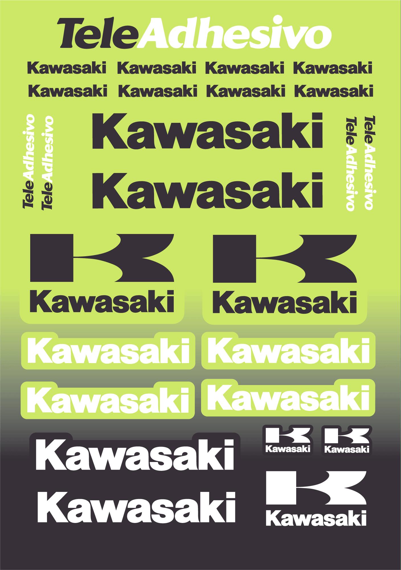 Aufkleber: Kawasaki kit color