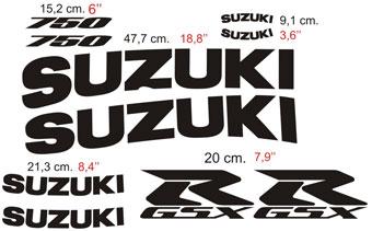 Aufkleber: GSXR 750 2001