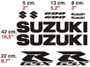 Aufkleber: GSXR600-2004