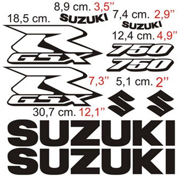 Aufkleber: GSXR 750 2006