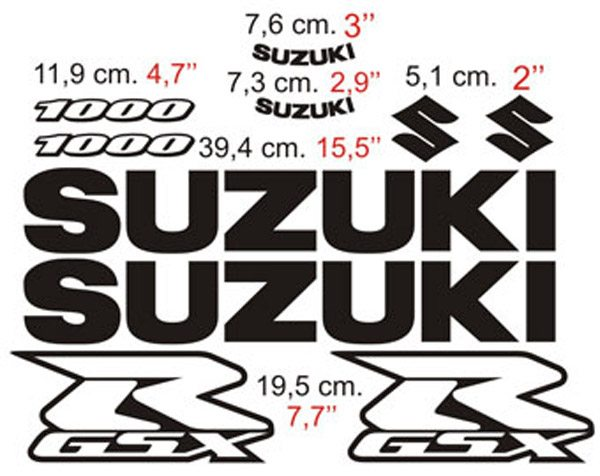 Aufkleber: GSXR 1000 2005-06 II