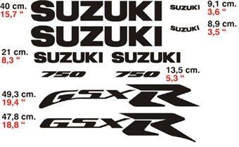 Aufkleber: GSX750R 2000 Amarillo