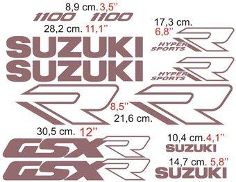 Aufkleber: GSXR 1100 1989