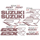 Aufkleber: GSXR 1100 1989 2