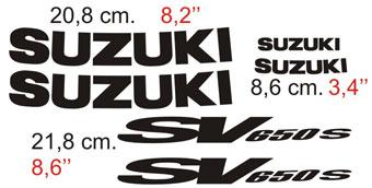 Aufkleber: SV 650 2001
