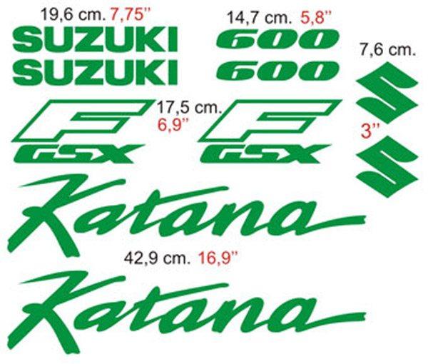 Aufkleber: Katana 600 1990