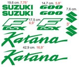 Aufkleber: Katana 600 1990 2
