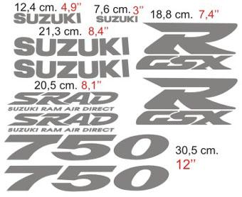 Aufkleber: GSXR 750 1997