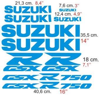 Aufkleber: GSXR 750 1996