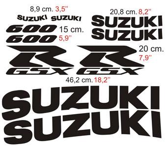 Aufkleber: GSXR 600 2002