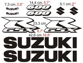 Aufkleber: GSXR 600 2004