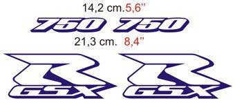 Aufkleber: GSXR 750 2000 blue bike