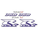 Aufkleber: GSXR 750 2000 blue bike 2