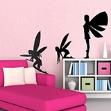 Kinderzimmer Wandtattoo: Fairies silhouettes 0