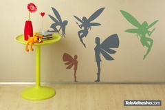 Kinderzimmer Wandtattoo: Fairies silhouettes 2