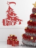 Wandtattoos: Christmas tree 2