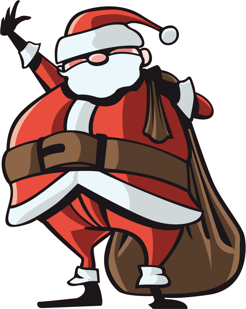 Wandtattoos: Santa Klaus