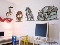 Kinderzimmer Wandtattoo: kit africa color 3